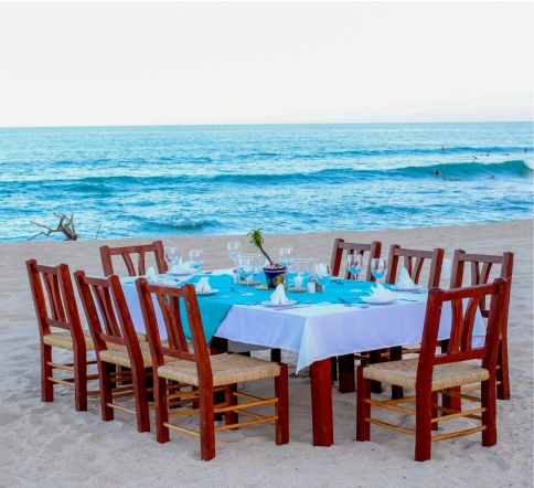 table set in the beach san jose del cabo